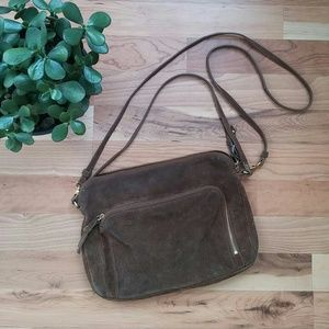 Boho Suede Leather Crossbody Purse